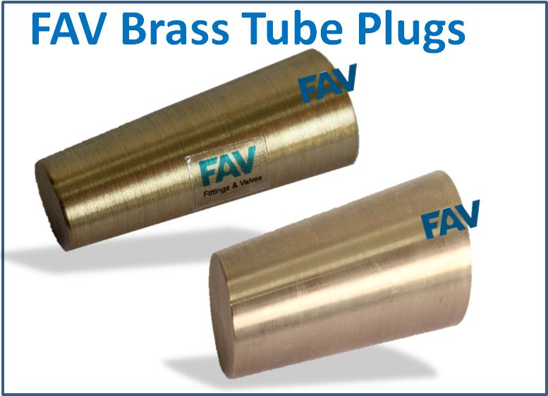 Brass tapered tube plugs
