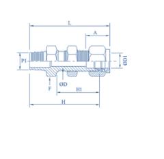 PTFE Bulkhead Male Connectors