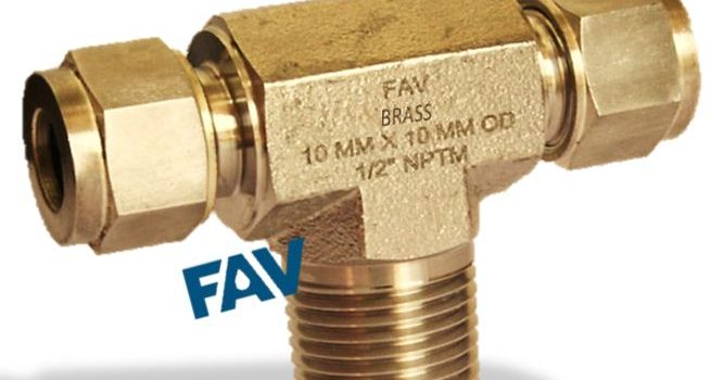 Brass Male Branch Tee- Compression Tube Fittings