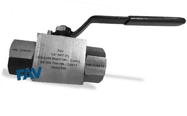 Carbon Steel Ball Valve 15000 psi , Zinc Plated