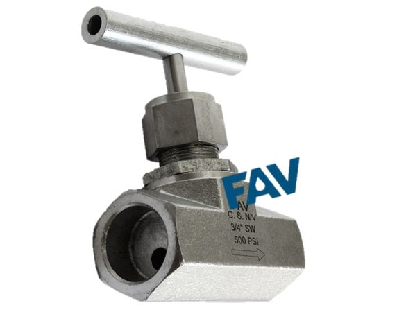 Carbon Steel Needle Valve Socket Weld Connection Forged Body