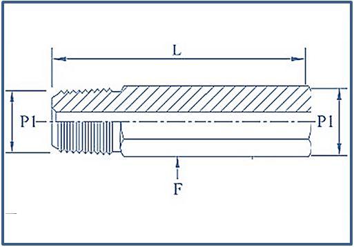 Hex Long Adaptor 15000 psi