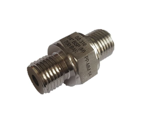High Pressure Hex Nipple BSP Male X BSP Male,10000 psi