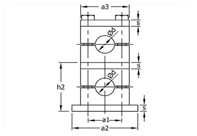 Multilayer Tube Clamps Vertical Only
