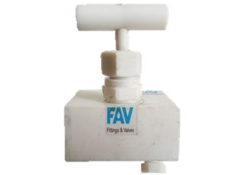 PTFE Needle Valve with Vent Plug