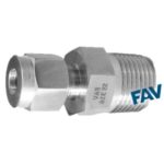 Male Connector NPT Double Ferrule Fittings