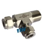 Male Run tee Double Ferrule Fitting