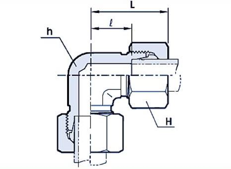 Union Elbow Hydraulic fitting